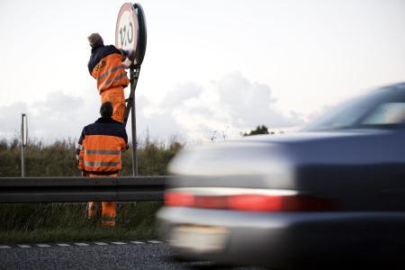 Fortsæt fartkontrollen ved vejarbejder