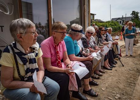 Seniorer til rejsegilde på Diakonissestiftelsen
