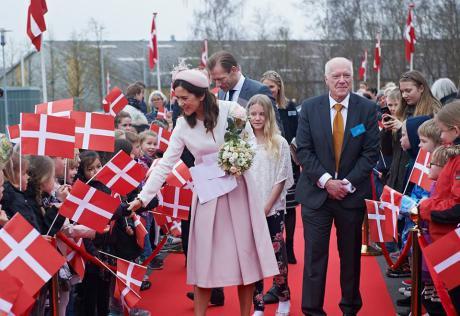 Kronprinsessen indviede nyt sygehusbyggeri
