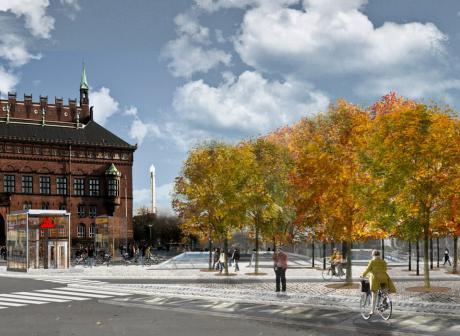 Nu får Rådhuspladsen sin egen grønne lund