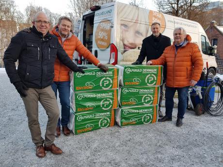 Dansk papiruld skal isolere norske hjem