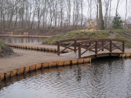 Rekreativt område renoveret med robinietræ
