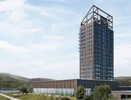 Verdens højeste træbygning står færdig