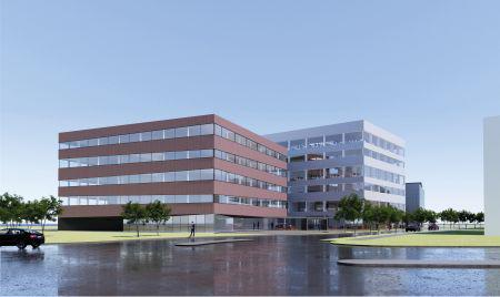Ny kontorbygning på vej i Design City