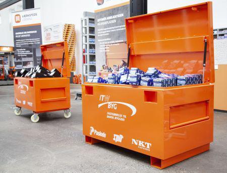Arbejd uden afbrydelser med mobilt materialelager