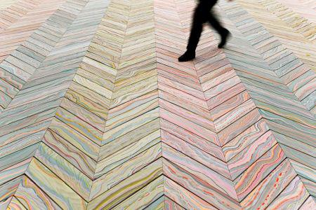 'Overnaturlige' trægulve med marmorlignende mønstre