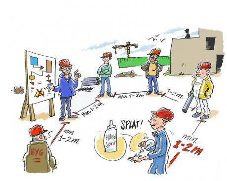 Ny vejledning skal forhindre Corona-smitte i byggeriet