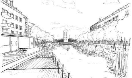 Regnvandsbassin skal klimasikre Randers' bymidte