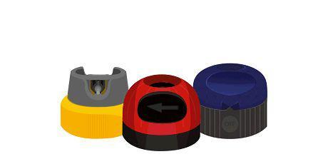Sikkerhedshætter til spraydåser for sikrere og enklere brug