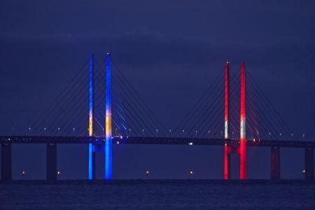 Øresundsbron har fået energieffektiv og dynamisk belysning