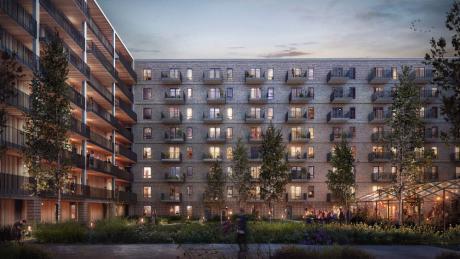 154 bæredygtige lejligheder i Ørestad City