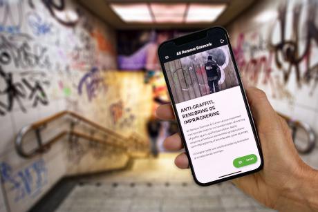 Ny app hjælper med at bekæmpe graffitien